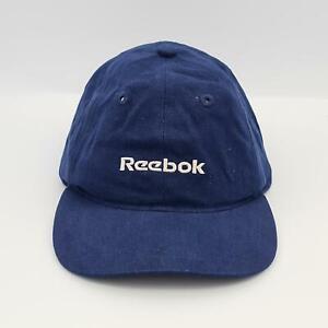 Reebok Junior Denim Strap Back Adjustable Vintage Cap - Navy