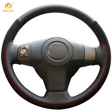 Black Leather Suede Steering Wheel Cover Wrap for Toyota Yaris Vios 2009 RAV4