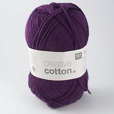 Rico Creative Cotton DK - 100% Cotton Knitting & Crochet Yarn - Cardinal 010
