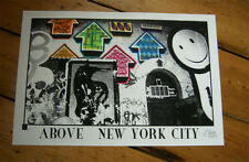 ABOVE NYC New York signed print HPM  -/25 Shepard Fairey Obey TLP London Police