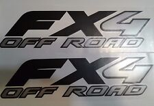 ford fx4 off road decal Matt black and gray, sport chome truck (SET)