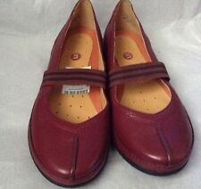 New🌹Clarks🌹Size 3.5 D Unstructured Un Bethany Wine Leather Slip On Shoes 36EU