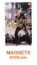 JOHNNY HALLYDAY  magnet / aimant   5,5 cm x 8,7 cm  EN CONCERT