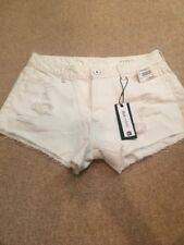 DL1961 Off White Cut Off Distressed High Rise Ivy Denim Shorts Sz 30 NWT