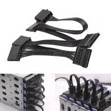 4 Pin IDE bis 5 Serielle SATA Straight Festplatte Netzteil Kabel Wire Line TOP