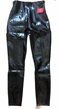 NWT SPANX FAUX PATENT LEATHER Leggings Pants Black Shine size S M or L