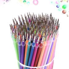 UK 100 Colour Gel Pens Refill Coloring Art Drawing Glitter Neon Metallic Set