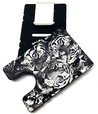 BilletVault Wallet Aluminum RFID protection black anodized, Tigers Pattern, USA