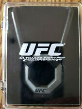 UFC Officially Licensed Pewter Pendant/Octagon Necklace New old stock in case!