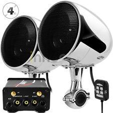 Bluetooth 600W Amplifier Motorcycle Waterproof Speaker Stereo Audio Radio System