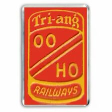 Remembering the old TRI-ANG (Triang) TRAINS OO/HO BADGE as a JUMBO Fridge Magnet