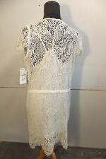Zara Basic Cream Crochet Dress with Slip Size L New with tags