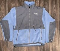 Womens The North Face Denali Fleece Sweatshirt Jacket Size Medium Blue/Gray