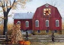 Billy Jacobs Autumn Leaf Quilt Block Paper Art Print  16 x 12