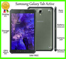 "Samsung Galaxy Tab Active 8.0"" T365 16GB 4G+WiFi ~UNLOCKED~ IP67 Tablet GRADE A+"