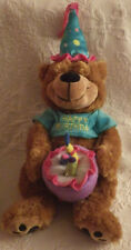 "Happy Birthday Bear Burton & Burton Plays Song Plush Stuffed Animal Toy 15"" Tall"