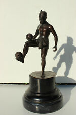 Vintage Bronze Figure Sepak Takraw Player Wicker Ball Game Indonesia