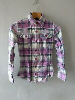 SUPERDRY WOMENS / GIRLS STUNNING FLANNEL CHECKED SHIRT TOP SIZE XS 6 8