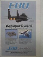 8/1989 bru-46/a bru-47/a edo pub armament systems usaf f-15e eagle original ad