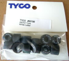 Tyco Mattel 440x2 White Lettered Rear Tires 6 Pair / NOS / Free Shipping