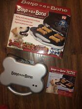New listing Bake A Bone Original Dog Treat Maker As Seen On Tv Opened Box