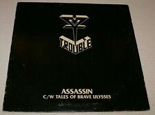 Trouble Assassin Metal Blade Records MBR 1018 Lp Single 1984 Rare Doom Cream