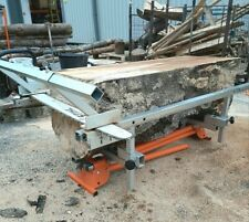 More details for portable universal track chainsaw mill coin lumber planking boards milling,