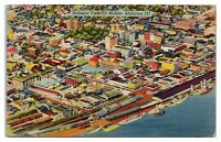 1945 Bird's-Eye View of Mobile, AL Postcard *4S