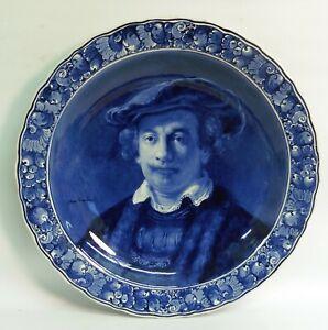 """LARGE ANTIQUE PORCELEYNE FLES BLUE & WHITE """"REMBRANDT"""" CHARGER CIRCA.1916"""