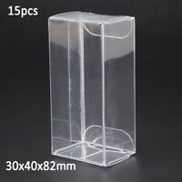 15Pcs Clear 1/64 Scale Diecast Model For Matchbox Tomica Car Display Case BOX