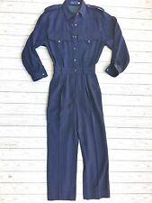 Escada vintage combinaison style militaire jumpsuit vintage Escada wool military