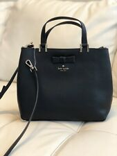 NWT Kate Spade Pershing Street Gwyn Leather Satchel Crossbody Black