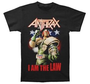 Anthrax JUDGE DREDD I AM THE LAW T-Shirt NEW Heavy Metal Band 100% Authentic