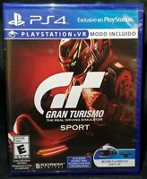 GRAN TURISMO SPORT VR MODE Included + DLC + Game Disc + Case PlayStation 4 PS4