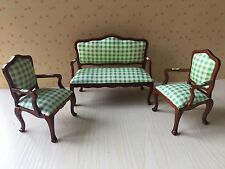 1/12 Dollhouse Furniture Set  Armchair Sofa Made of Cloth& Wood