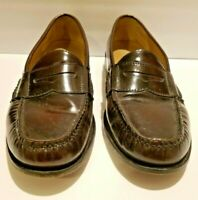 Cole Haan 9.5D Men's Burgundy Leather Pinch Penny Loafer Slip On Dress Shoes