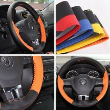"""14"""" Steering Wheel Cover Black & Orange PVC Leather Wrap 47018S Coupe Small"""