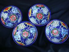 4pc Talavera Bowls Soup Cereal Pozolero Kitchen Mexican Pottery Folk Art 6.5