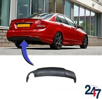 NEW MERCEDES BENZ W204 C AMG 2011-2014 REAR BUMPER DIFFUSER WITH ONE EXHAUST TIP