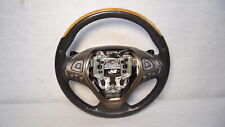 2014 Lincoln MKX Leather & Wood Steering Wheel w/ Controls & Paddle Shift OEM