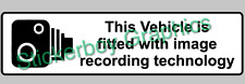 This vehicle is fitted with image recording technology Sticker Dashcam 300mm x1