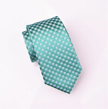 "Luxury Weave Designer Plaids & Checks 3"" Green Tie Mens Casual Mens Hot Fashion"