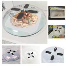 UK Hover Cover Magnetic Microwave Splatter Lid with Steam Vents Dishwasher-Safe