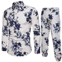 Luxury tops men's dress shirt long sleeve t-shirt slim fit formal casual floral