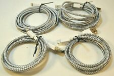 Lightning Connector Charging & Sync Cable for Apple *4-Pack* 3ft/6ft -- Silver