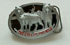 THE CALL OF THE WILD WOLF PACK WOLVES BELT BUCKLE