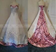 Real Photo Pink Camo Wedding Dress Vintage Country Wedding Dress Cheap