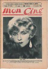 Mon Ciné N° 204/1926 - Alice Terry, Robert Macaire, Alexis Ghasne, D. Fairbanks