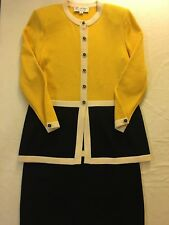 St. John Collection by Marie Gray SKIRT SUIT top size 4 Skirt size 6