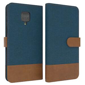 For Xiaomi Redmi Note 9S/9 Pro/ 9 Pro Max Flip Case cover Card Compartment Blue